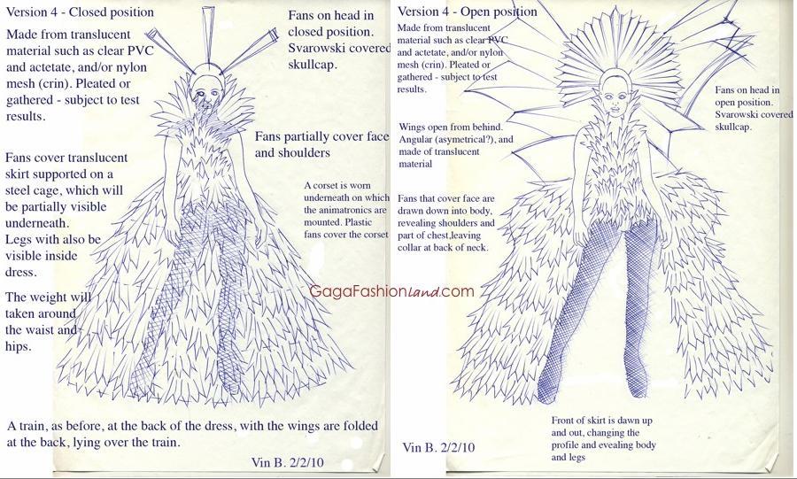 Lady Gaga - Living Dress Sketch